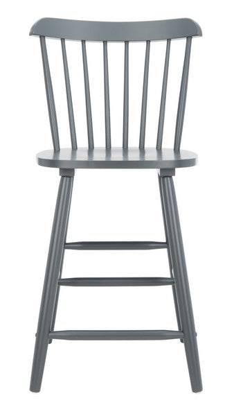 Safavieh Galena Counter Stool - Grey Front  View
