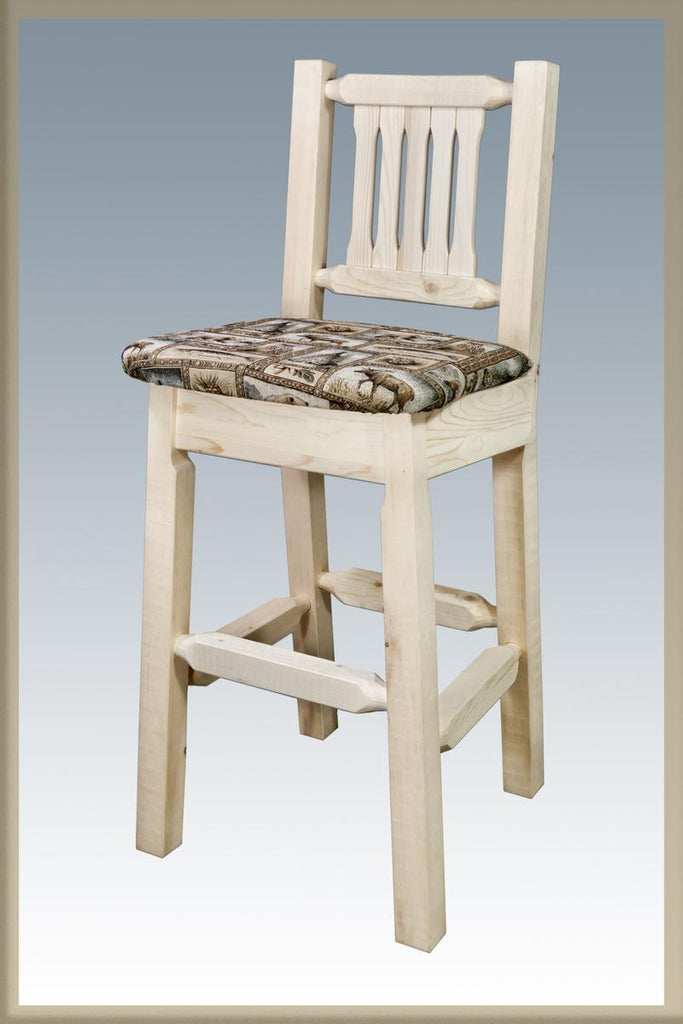 Montana Woodworks Glacier Country Collection Wood Barstool
