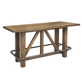 Pulaski Furniture Lt Bar Oak Table Side View