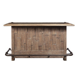 Pulaski Furniture Rustic Plank Home Bar Front View