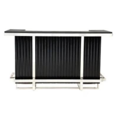 Pulaski Furniture Chrome Home Bar Front View