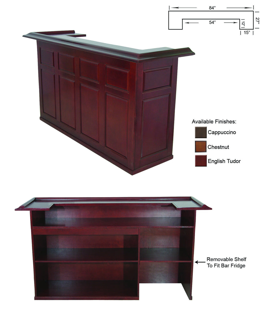 "RAM Game Room 84"" Wood Home Bar - Perfect Home Bars"