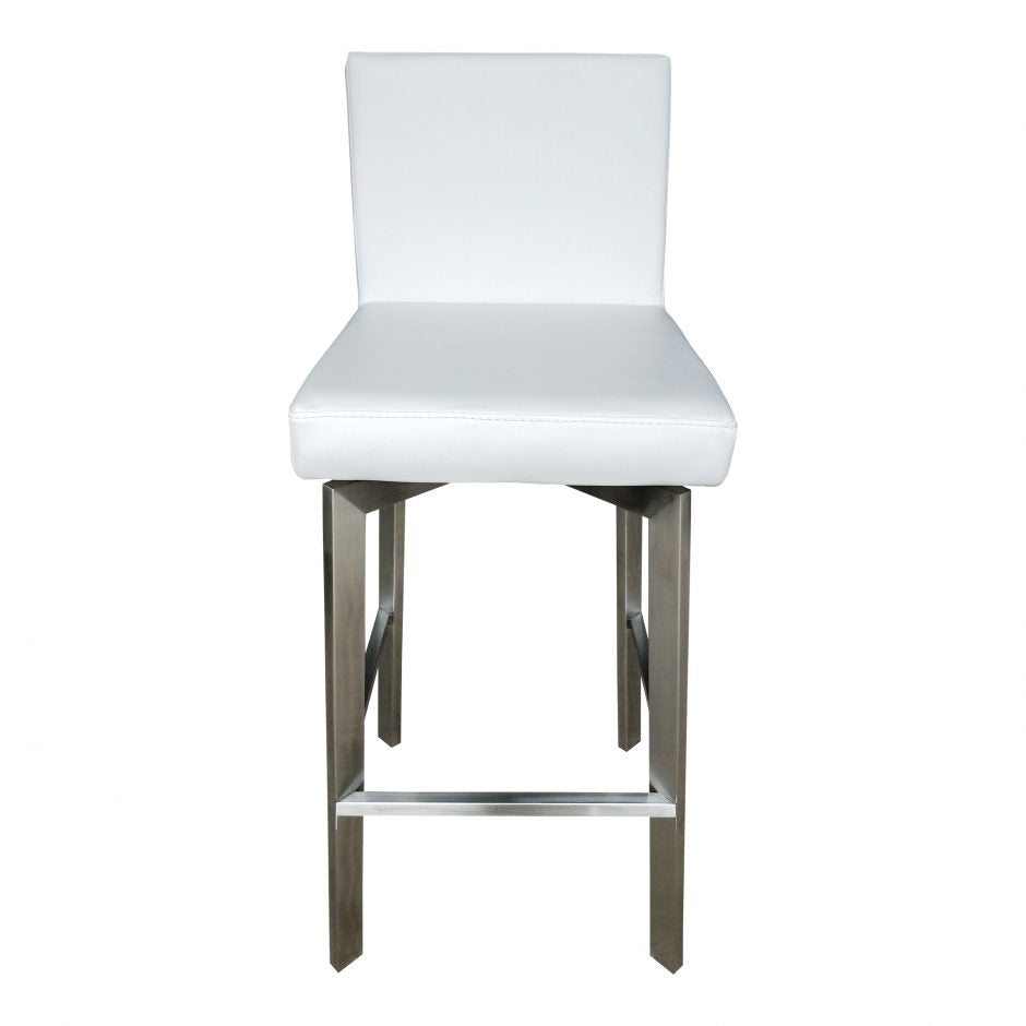 Perfect Home Bars Grant Bar Stool - Available in White or Gray/Counter Height or Bar Height