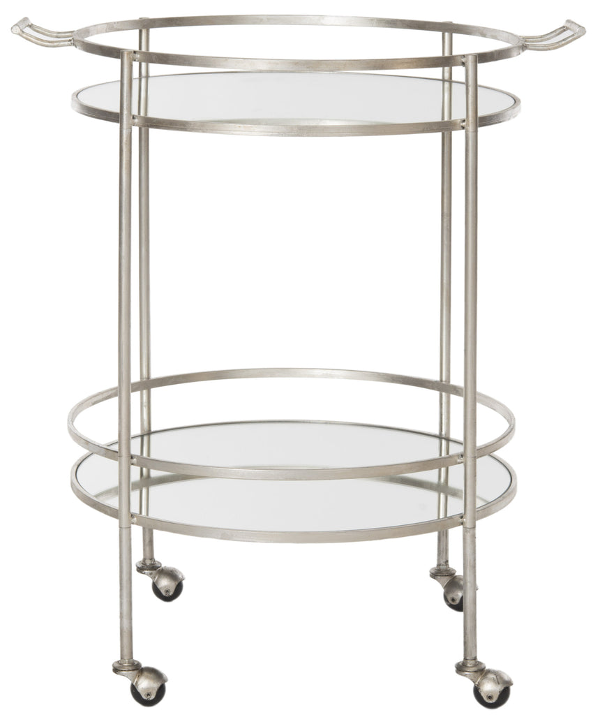 Safavieh Lavinia Table Side Mirrored Glass Bar Cart - Perfect Home Bars