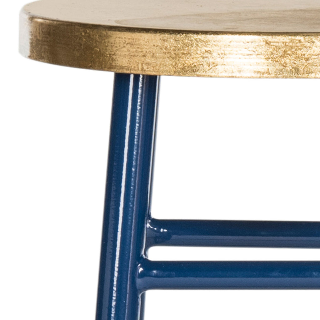Safavieh Emery Dipped Gold Leaf Counter Stool - Available in Navy, Red, Black or White