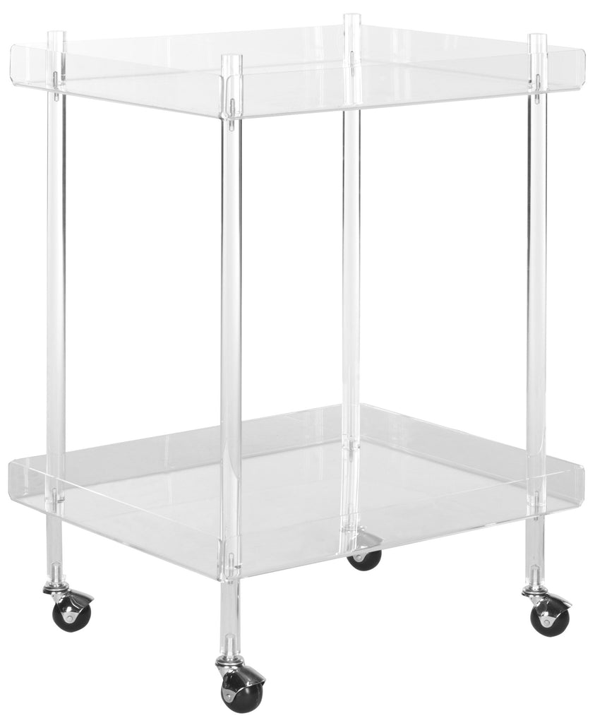 Safavieh Healy Acrylic Sixties-Inspired Kitchen Cart - Perfect Home Bars