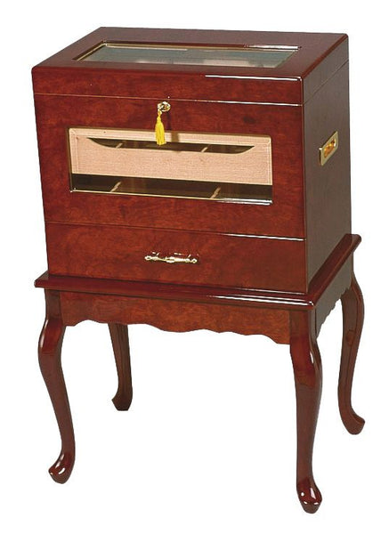Geneve - 500 Cigar Glasstop Table Humidor - Front View