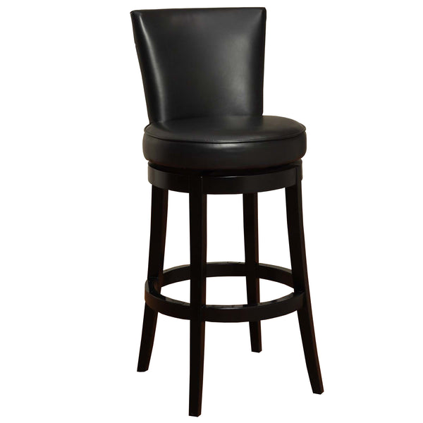 "Armen Living Boston Swivel Barstool In Bonded Leather 30"" Available in Black or Red"