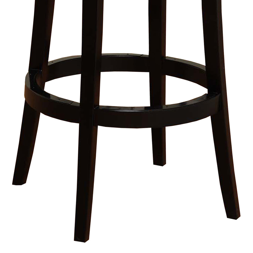 "Armen Living Boston Swivel Barstool In Bonded Leather 30"" Available in Black or Red - Perfect Home Bars"