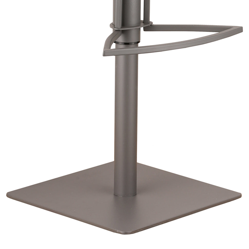 Adjustable Metal Bar Stool Base Detail Gray
