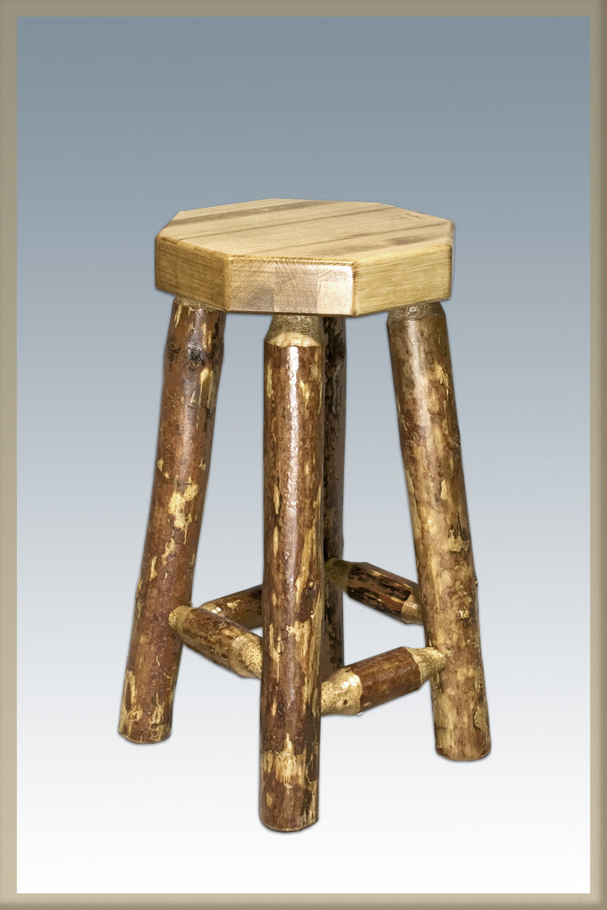 Montana Woodworks Glacier Country Collection Backless Wood Bar Stool