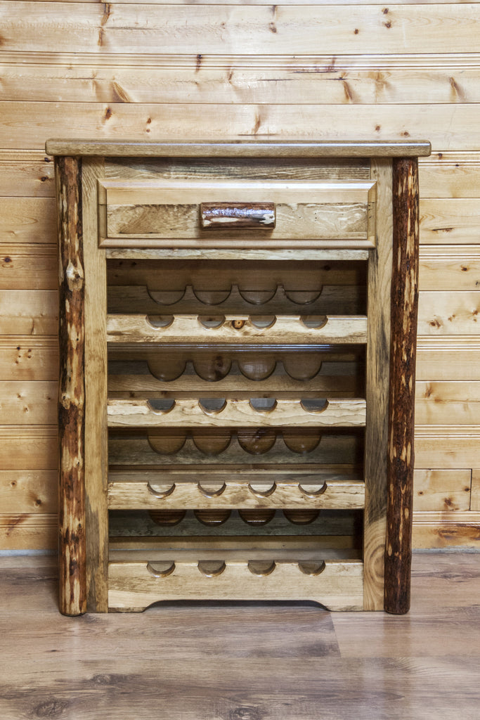 Montana Woodworks Glacier Country Collection Wood Wine Cabinet