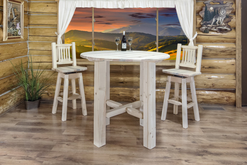 "Montana Woodworks Homestead Collection 40"" Wood Bistro Table"