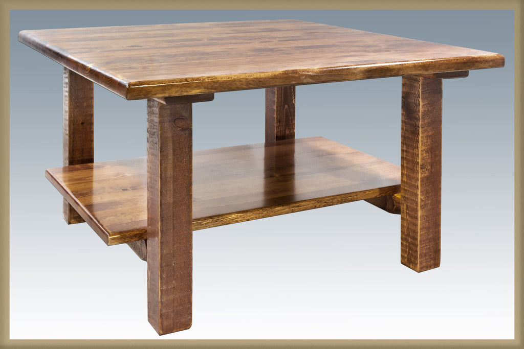 Montana Woodworks Homestead Collection Cocktail Table w/ Shelf - Perfect Home Bars