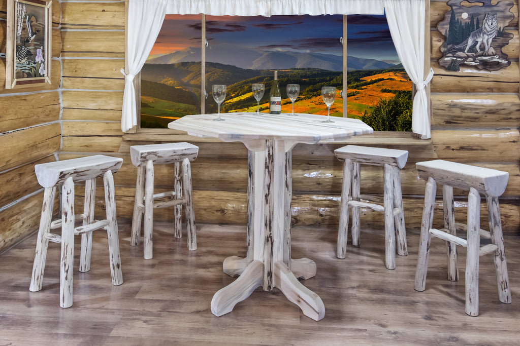 Montana Woodworks Collection Wood Pub Table - Perfect Home Bars
