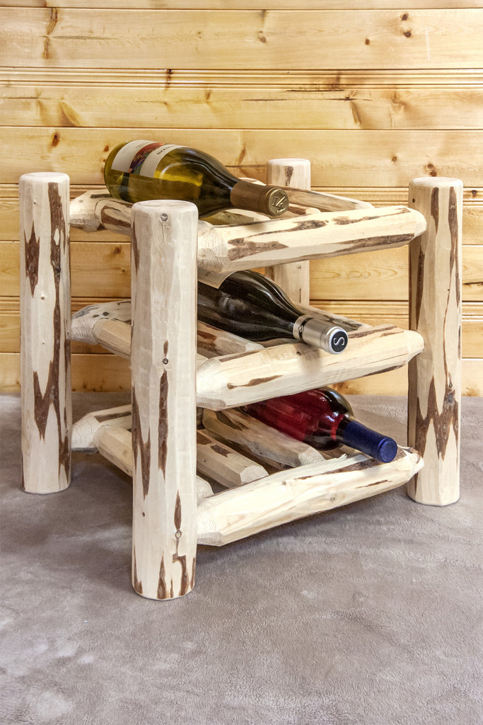 Montana Woodworks Collection Wood Countertop Wine Rack - Perfect Home Bars