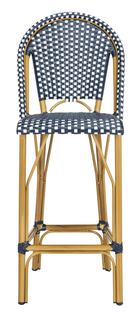 Safavieh Ford Indoor-Outdoor Stacking Bistro Bar Stool - Available in Navy or Gray