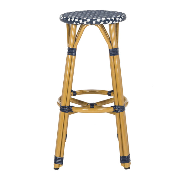 Safavieh  Kelsey Indoor-Outdoor Bar Stool - Available in Navy or Gray