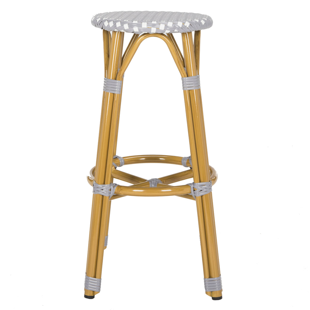 Kelsey Indoor-Outdoor Bar Stool Gray Front View