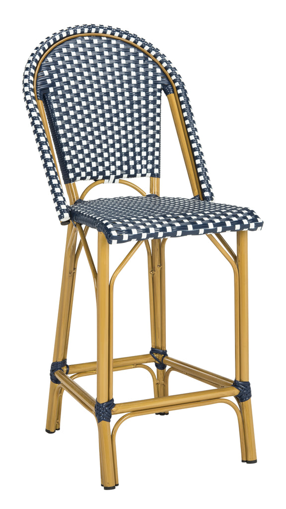 Safavieh Gresly Indoor-outdoor Stacking French Bistro Counter Stool - Available in Navy or Gray