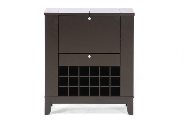 Baxton Studio Modesto Brown Modern Dry Bar and Wine Cabinet - Perfect Home Bars