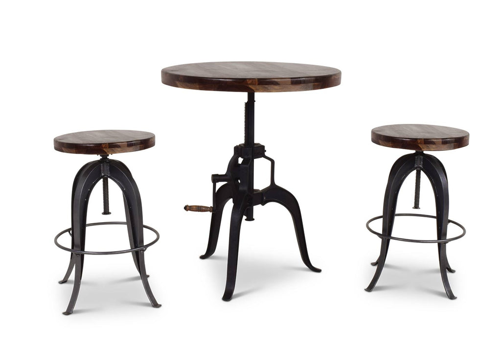 Steve Silver Sparrow Round Crank Pub Table - Perfect Home Bars