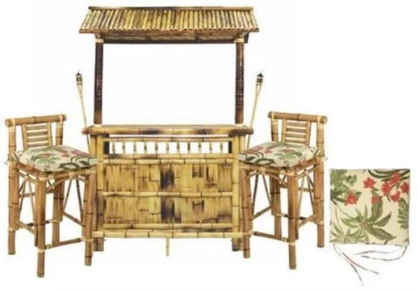 "RAM Gameroom Ultimate 60"" Bamboo Tiki Bar - Bundle View"