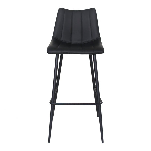 ALLY Bar Stool - Matte Black - Front View