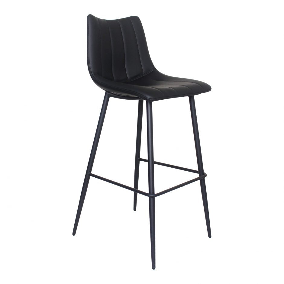 ALLY Bar Stool - Matte Black - Side View