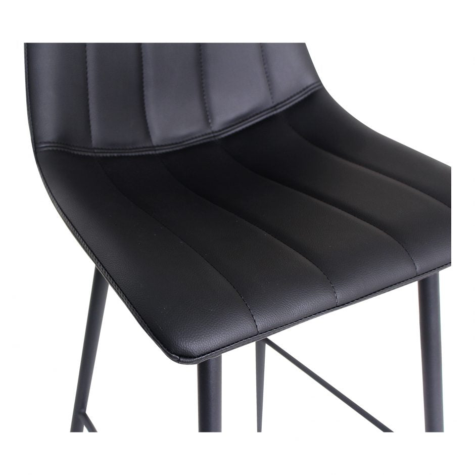 ALLY Bar Stool - Matte Black - Detail View