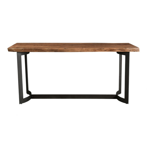 Acacia Counter Table - Smoked - Side View