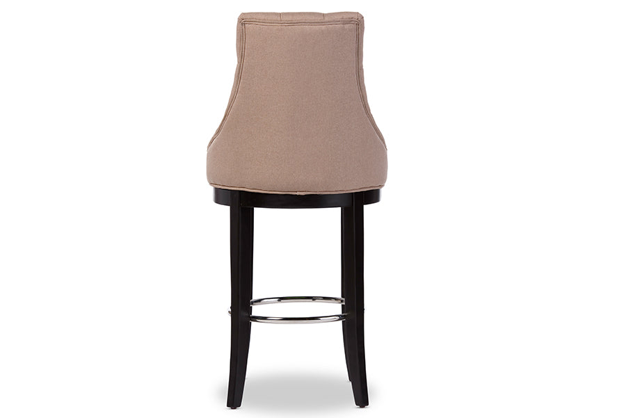 Harmony Modern and ContemporaryBar Stool with Metal Footrest