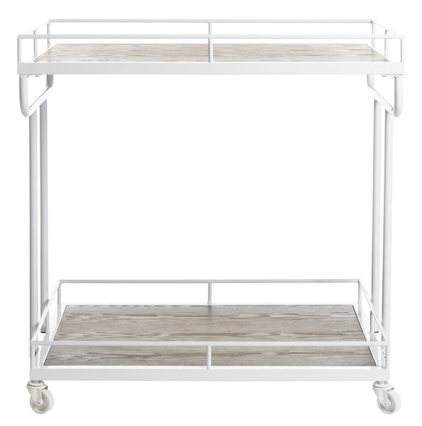 Safavieh Dawson 2 Tier Rectangle Bar Cart Front View