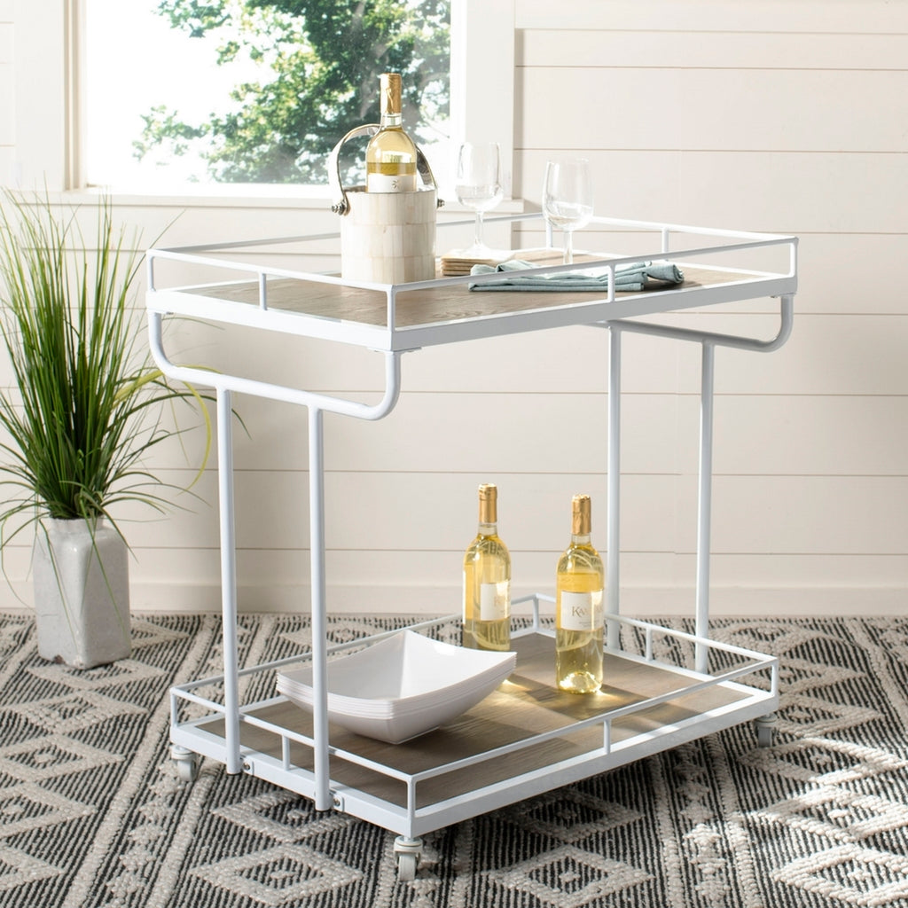 Safavieh Dawson 2 Tier Rectangle Bar Cart Lifestyle View