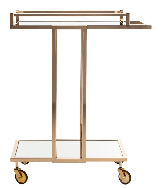 Safavieh Carpi 2 Tier Rectangle Bar Cart Side View