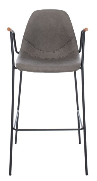 Safavieh Tanner Mid Century Barstool Ash Front View