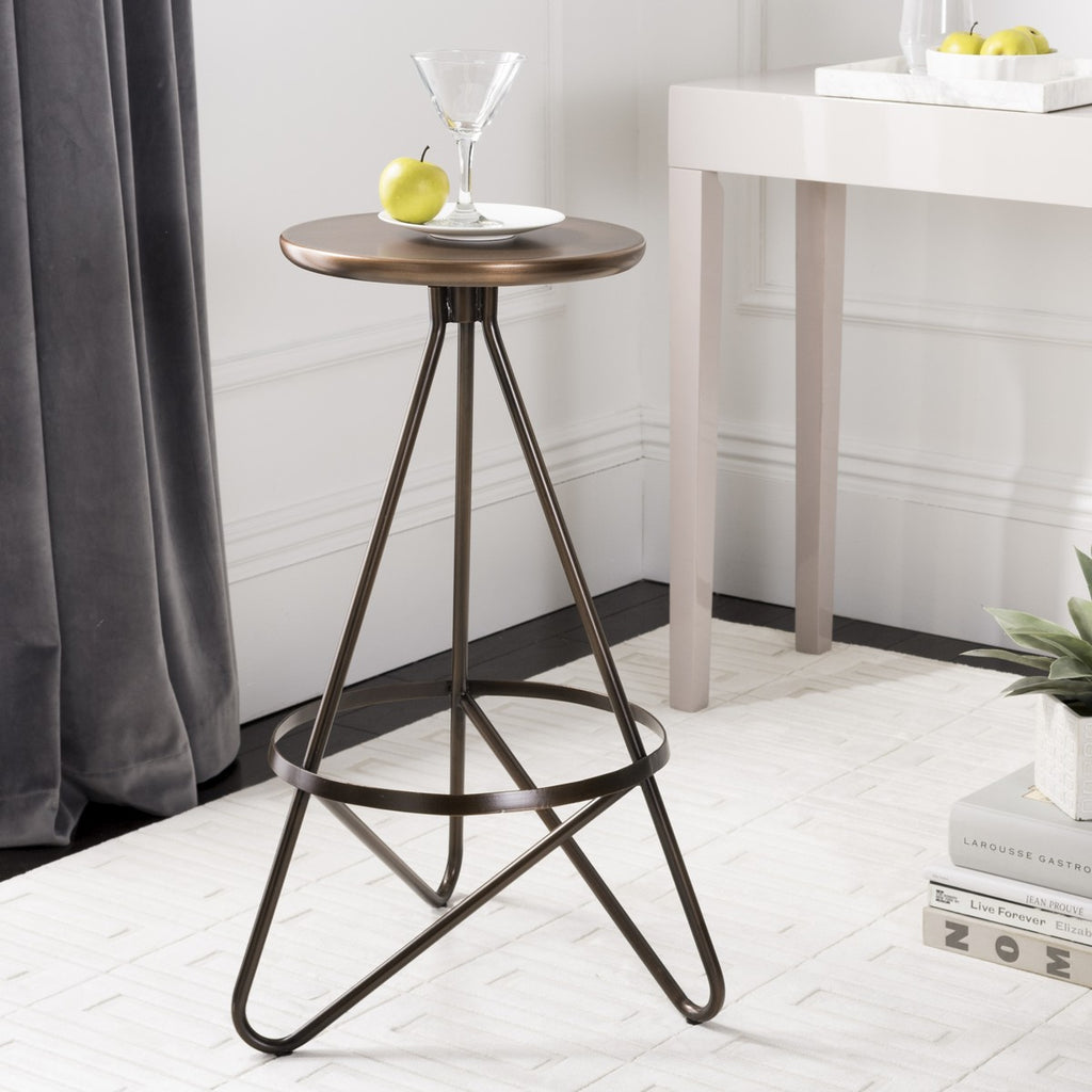 Safavieh Galexia Bar Stool - Available in Antique Copper, Silver Leaf or White / Gold Top