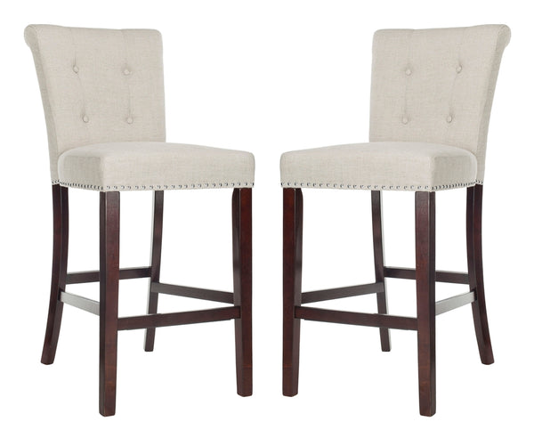 Safavieh Taylor Bar Stools (Set of 2) - Available in Light Gray, Navy, Beige or Brown