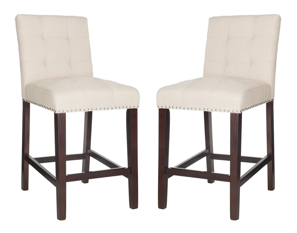 Nikita Counter Stool (Set of 2) Beige Pair Front View