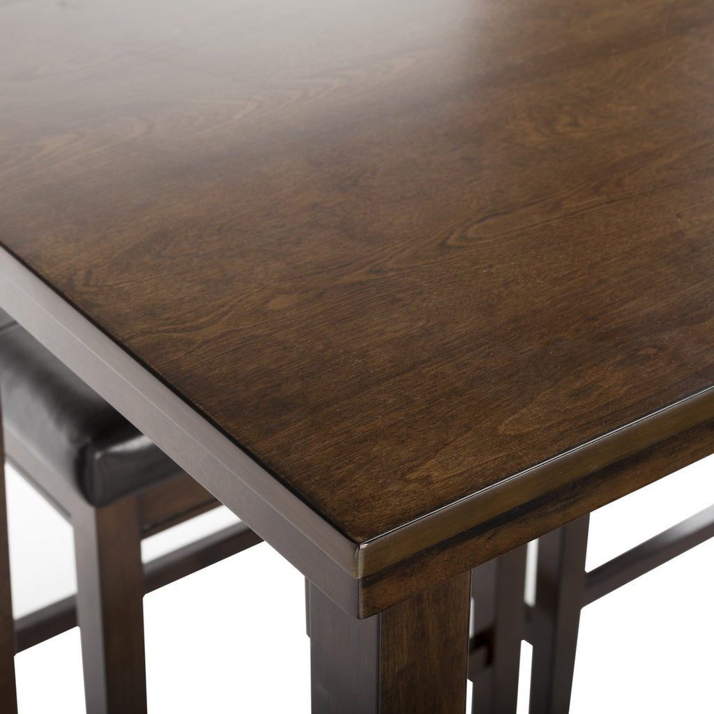 Billy 5 Piece Pub Set Detail Table Top View