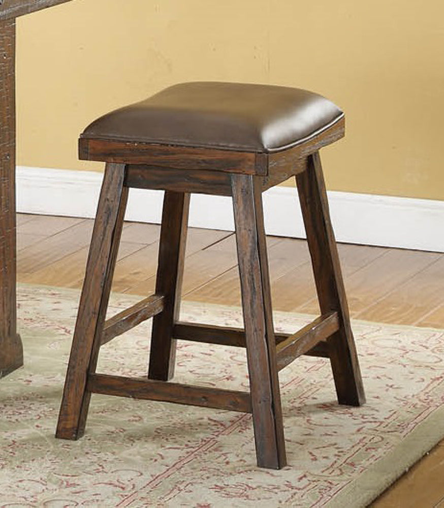 "Gettysburg 24"" Saddle Stool, Set of 2 Front Live View"