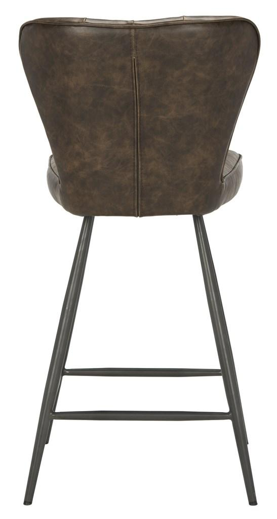 "Ashby 26""H Swivel Counter Stool (Set of 2) Brown Back View"