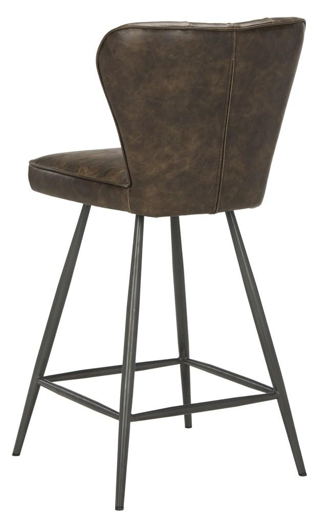 "Ashby 26""H Swivel Counter Stool (Set of 2) Brown Back Corner View"