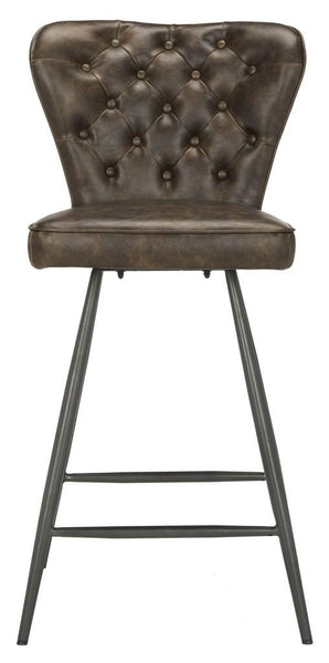"Ashby 26""H Swivel Counter Stool (Set of 2) Brown front View"