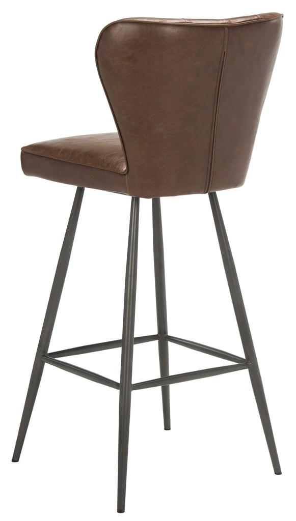 Magnificent Safavieh Aster 30H Mid Century Modern Leather Tufted Bar Stool Set Of 2 Dailytribune Chair Design For Home Dailytribuneorg
