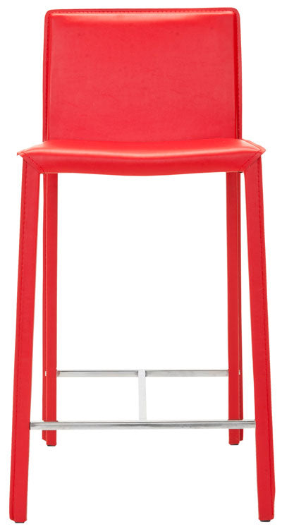 "Safavieh Jason 24"" Bar Stool (Set of 2) - Available in White, Black or Red"