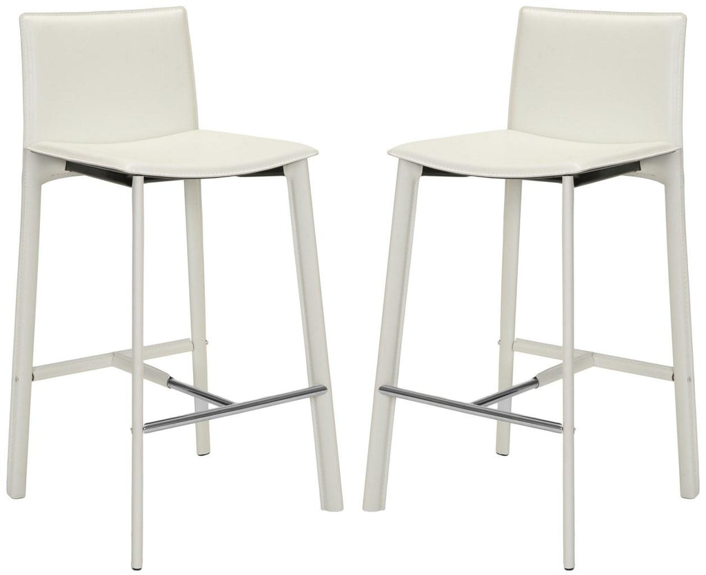 "Safavieh Janet 28.5"" H Bar Stool (Set of 2) - Available in White, Black or Red"