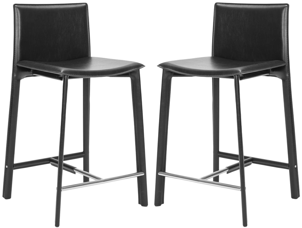 "Safavieh Janet 24"" Counter Stool (Set of 2) - Available in White, Black or Red"
