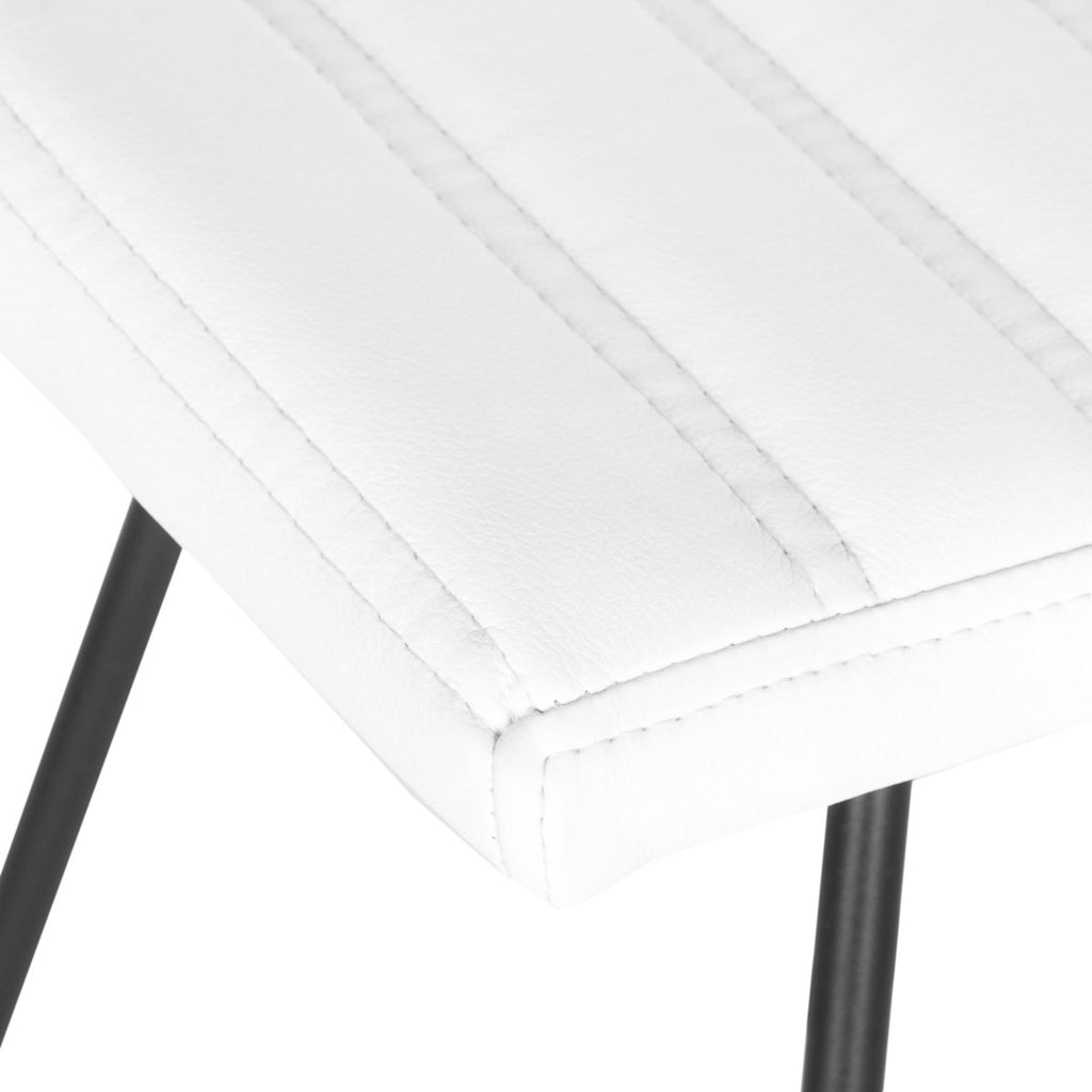 Akito Bar Stool (Set of 2) White Seat Detail View