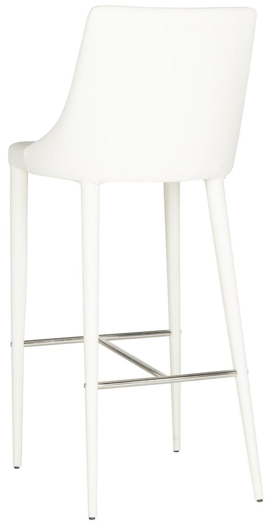 Safavieh Summerset Bar Stool - Available in White, Black, Buttercream, Brown, Taupe or Gray